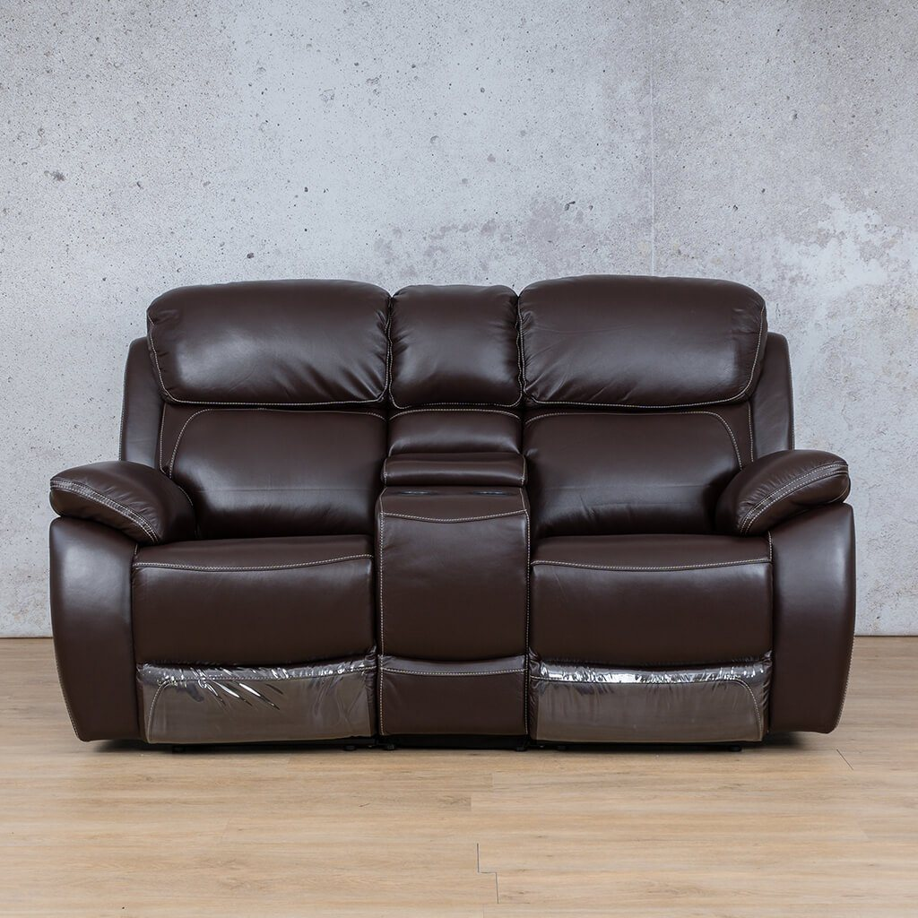 Lexington Leather Recliner Couch | 2 Seater Home Theatre | Choc-Lex | Couches For Sale | Leather Gallery Couches