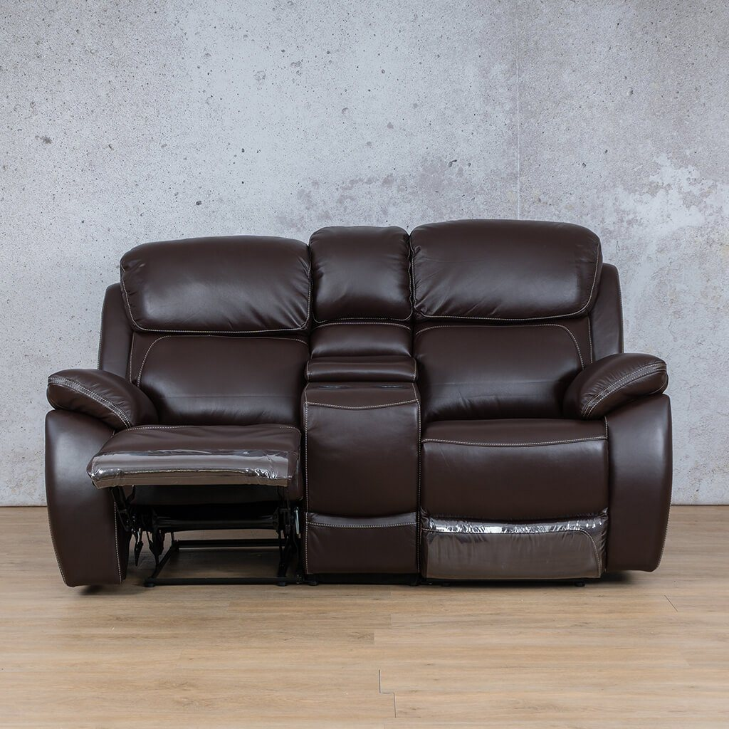 Lexington Leather Recliner Couch | 2 Seater Home Theatre | Choc-Lex | Open | Couches For Sale | Leather Gallery Couches