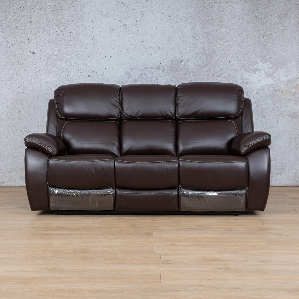 Lexington Leather Recliner Couch | 3 Seater Couch | Choc-Lex | Couches For Sale | Leather Gallery Couches