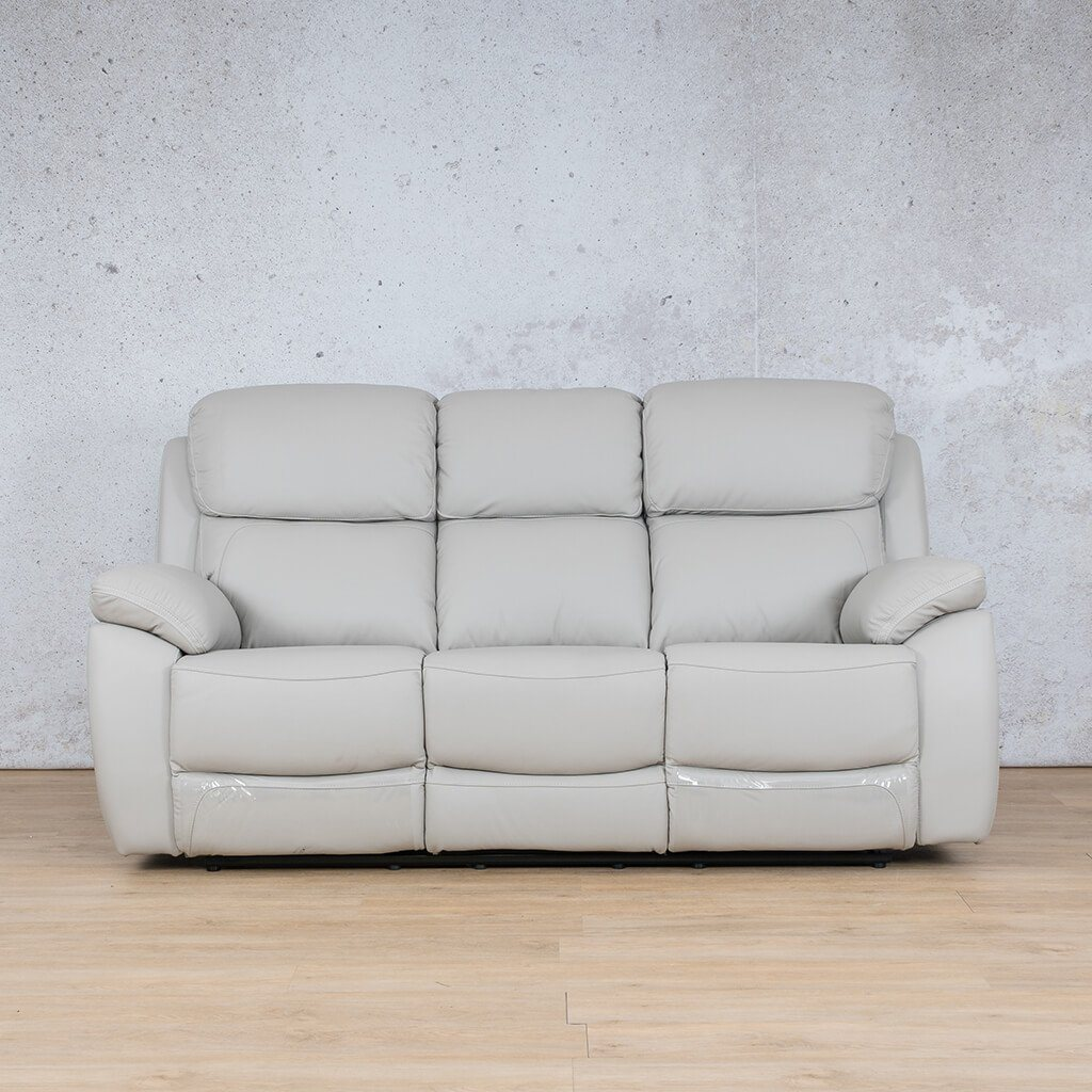 Lexington Leather Recliner Couch | 3 Seater Couch | Grey-Lex | Couches For Sale | Leather Gallery Couches