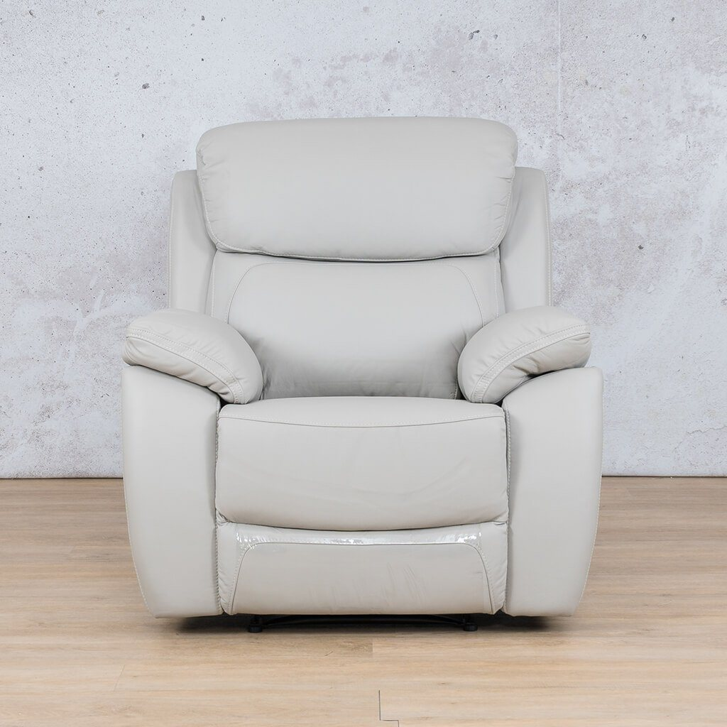 Lexington Leather Recliner Couch | 1 Seater Couch | Grey-Lex | Couches For Sale | Leather Gallery Couches