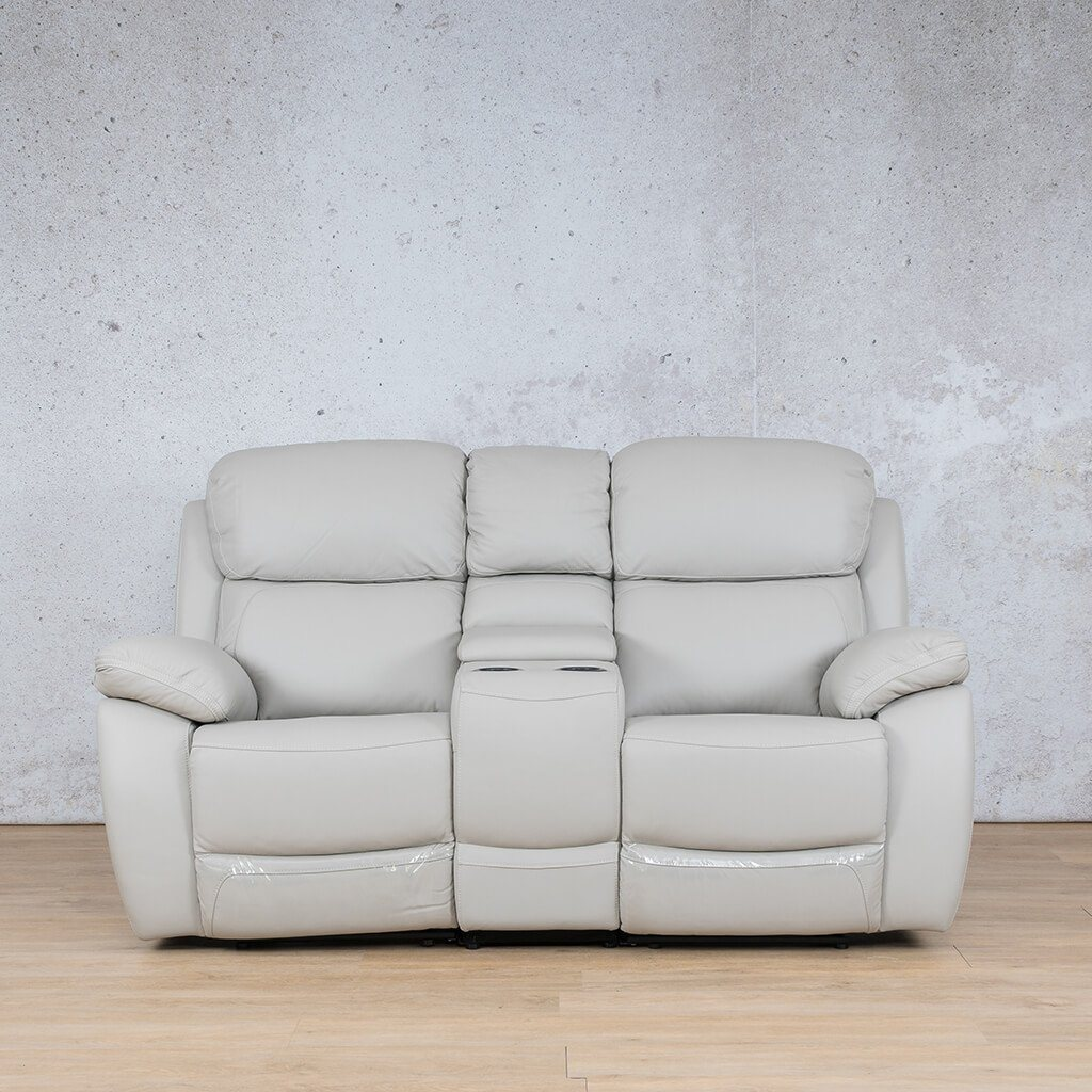 Lexington Leather Recliner Couch | 2 Seater Home Theatre | Grey-Lex | Couches For Sale | Leather Gallery Couches