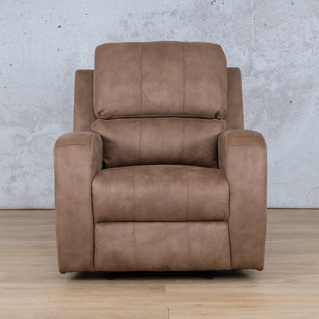 Orlando Fabric Recliner Couch | 1 Seater Couch | Light Brown-O | Couches For Sale | Leather Gallery Couches