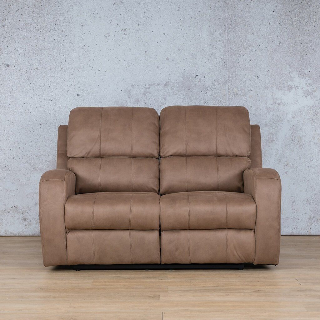 Orlando Fabric Recliner Couch | 2 Seater Couch | Light Brown-O | Couches For Sale | Leather Gallery Couches