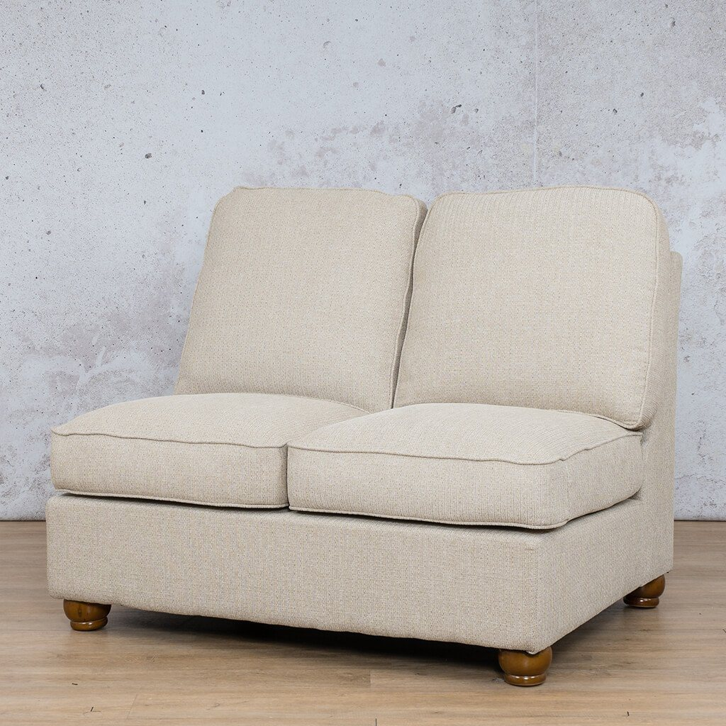 Salisbury Fabric Corner Couch | Armless Chair | 2 Seater Couch | Riverside-S | Front Angled | Couches For Sale | Leather Gallery Couches