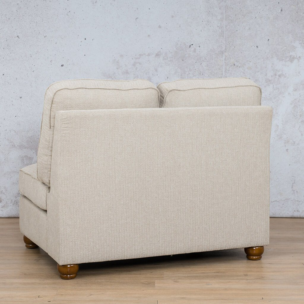 Salisbury Fabric Corner Couch | Armless Chair | 2 Seater Couch | Riverside-S | Back Angled | Couches For Sale | Leather Gallery Couches