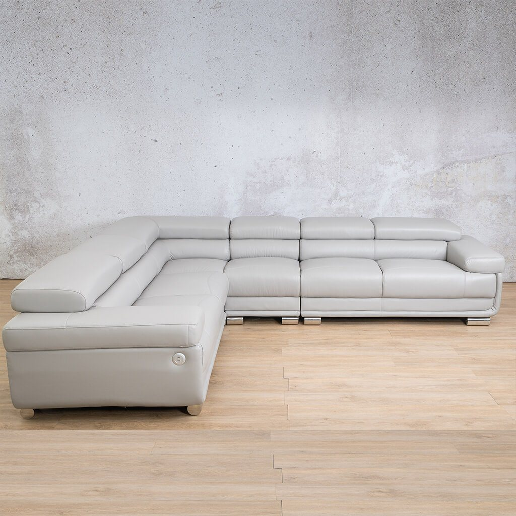San Miguel Leather Corner Couch | Sectional | Grey-SM | Couches For Sale | Leather Gallery Couches