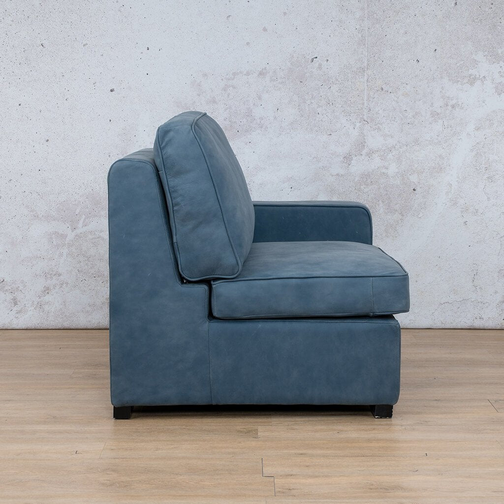 Arizona Leather | 1 Seater Left Arm Side | Flux Blue | Leather Gallery