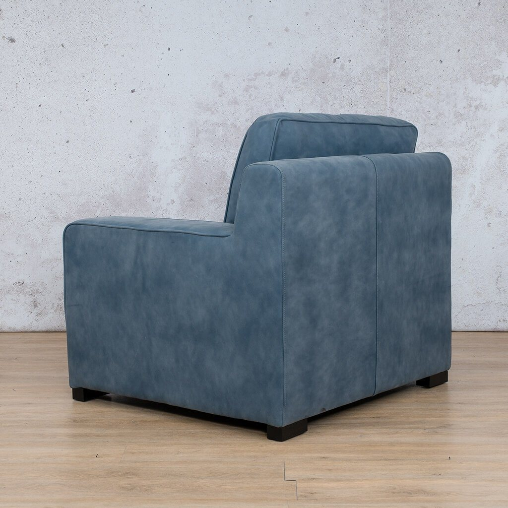 Arizona Leather | 1 Seater Left Arm Back | Flux Blue | Leather Gallery