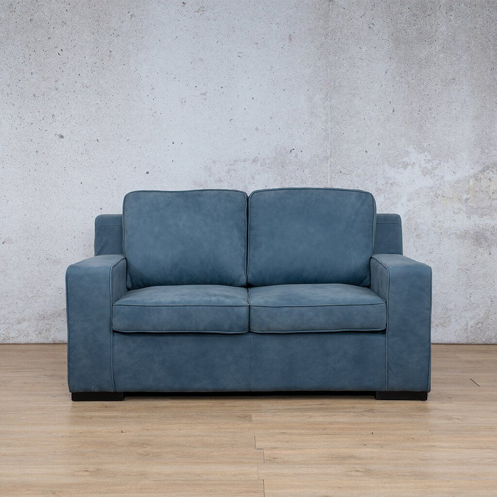 Arizona Leather Couch | 2 seater couch | Flux Blue | Couches for Sale | Leather Gallery Couches