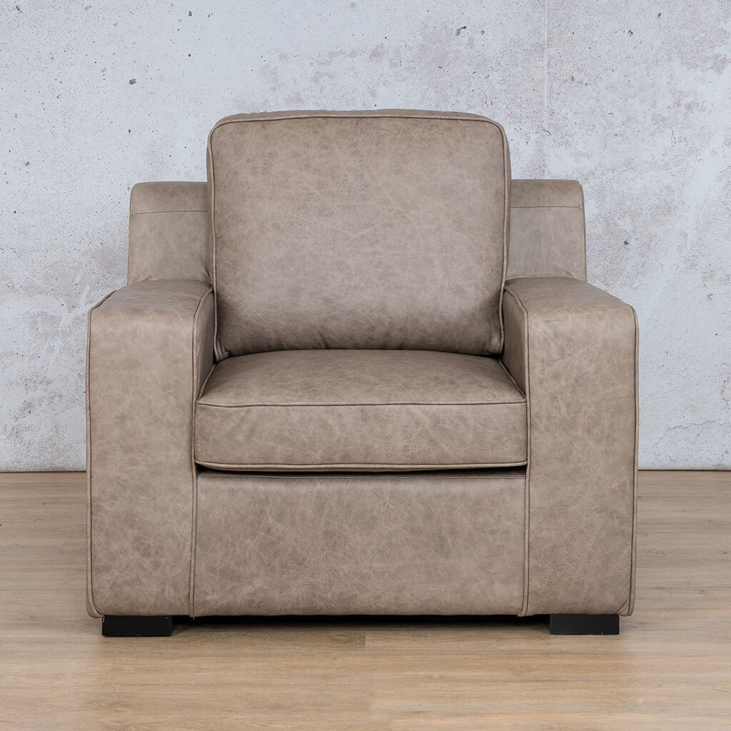Arizona Leather | 1 Seater | Bedlam Taupe | Leather Gallery