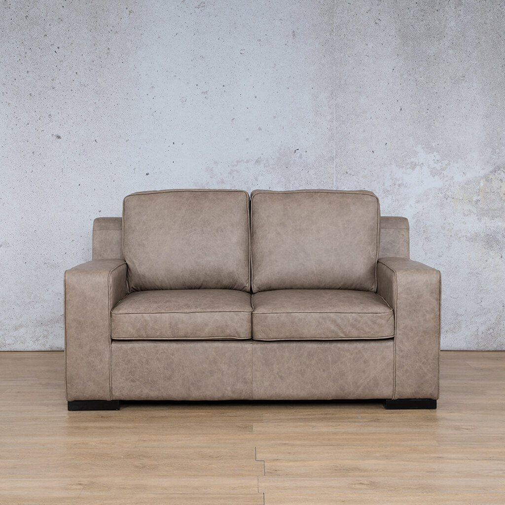 Arizona Leather Couch | 2 seater couch | Bedlam Taupe | Couches for Sale | Leather Gallery Couches