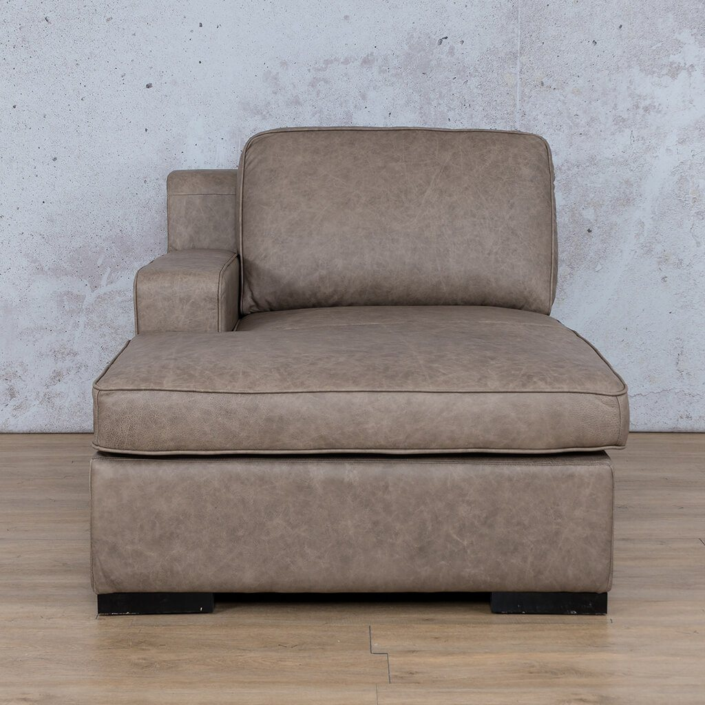 Arizona Leather Couch | Chaise Right Arm | Bedlam Taupe | Leather Gallery