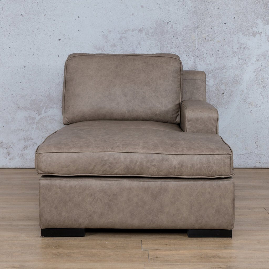 Arizona Leather Couch | Chaise Left Arm | Bedlam Taupe | Leather Gallery