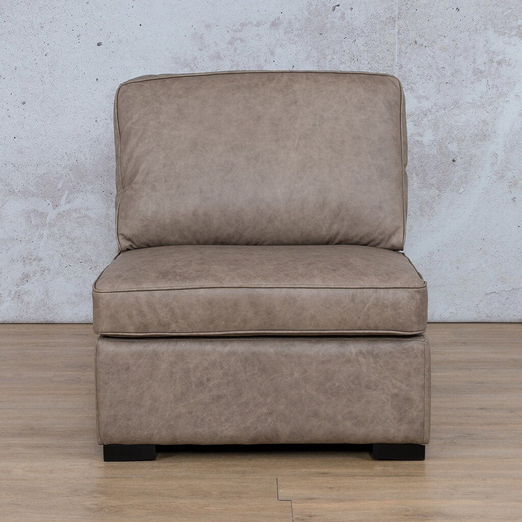 Arizona Leather Couch | Armless Chair | Bedlam Taupe | Leather Gallery
