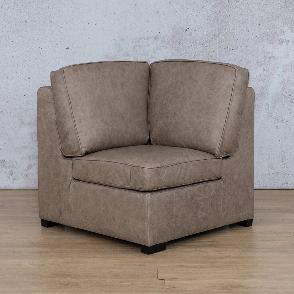Arizona Leather Couch | Corner | Bedlam Taupe | Leather Gallery