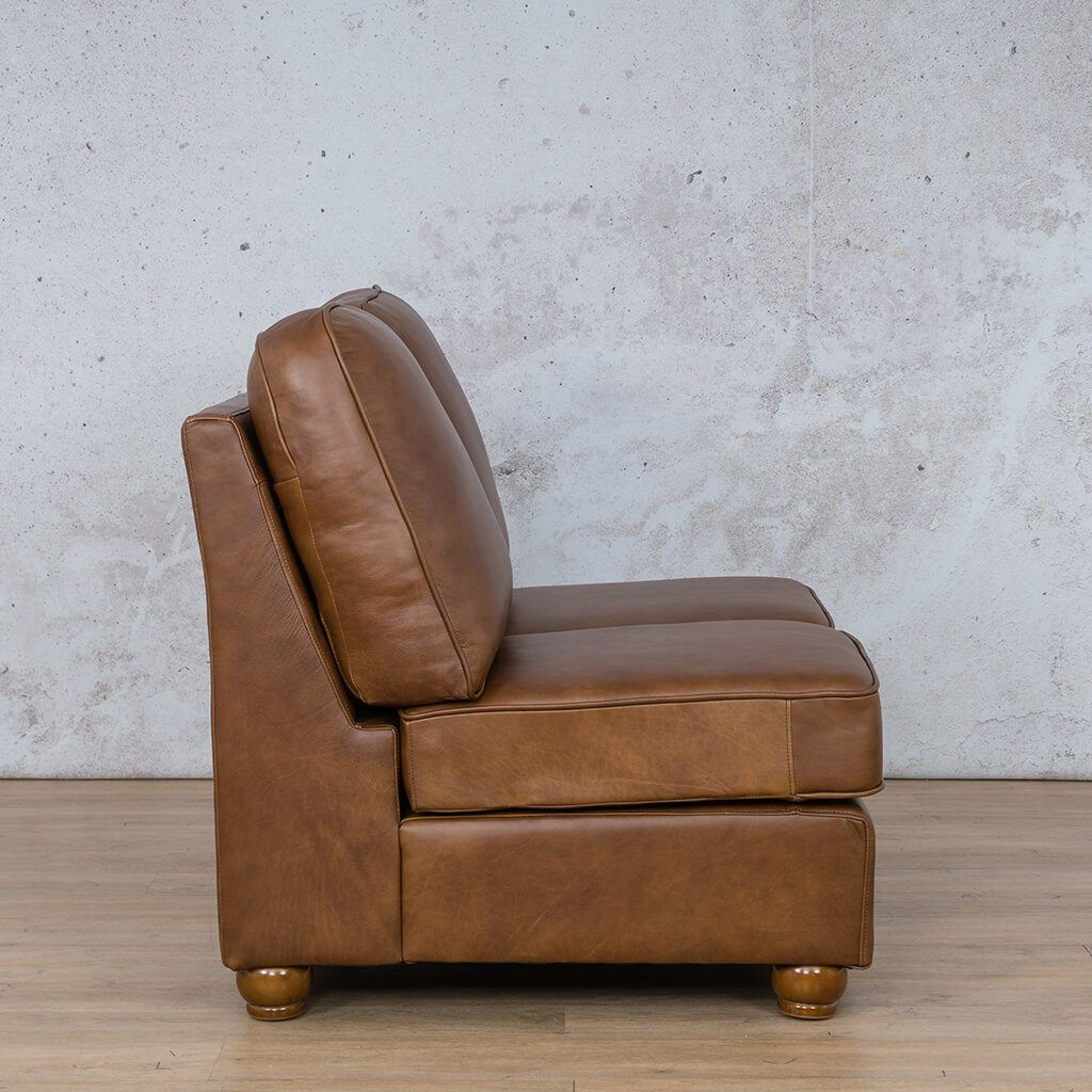 Salisbury Leather Corner Couch | Armless 2 Seater | Side | Couches For Sale | Leather Gallery Couches
