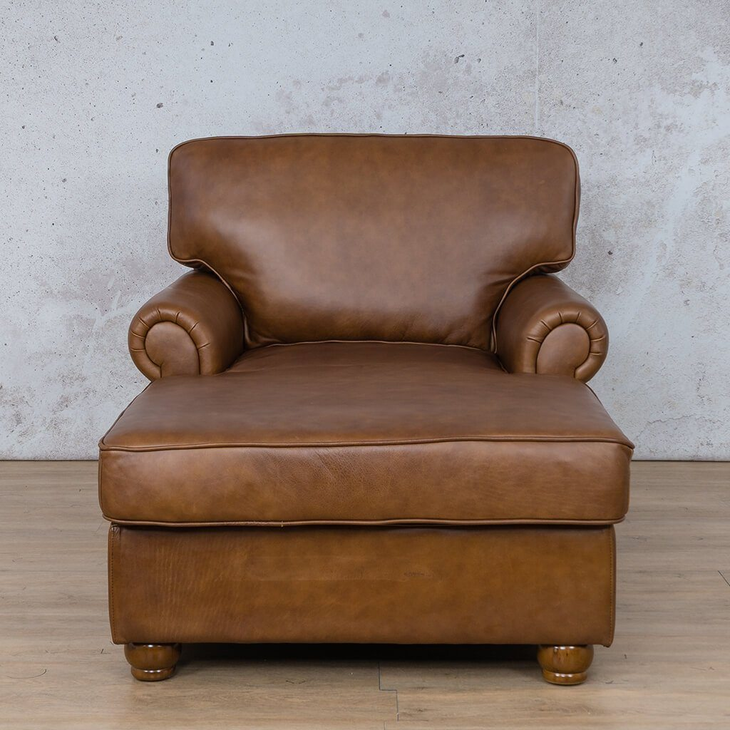 Salisbury Leather Corner Couch | 2 Arm Chaise | Czar Pecan-S | Couches For Sale | Leather Gallery Couches
