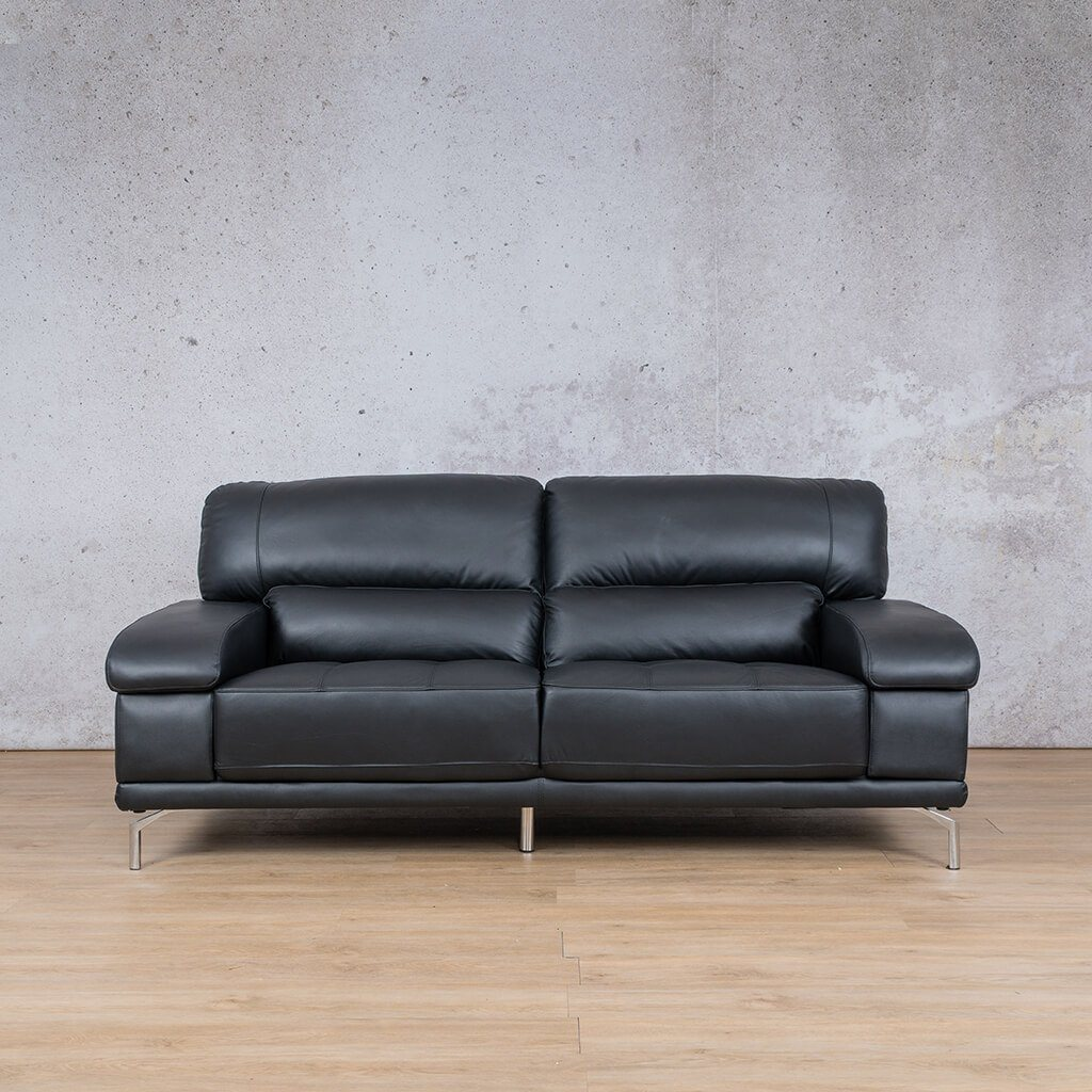 Adaline Black 2 Seater | Leather Gallery