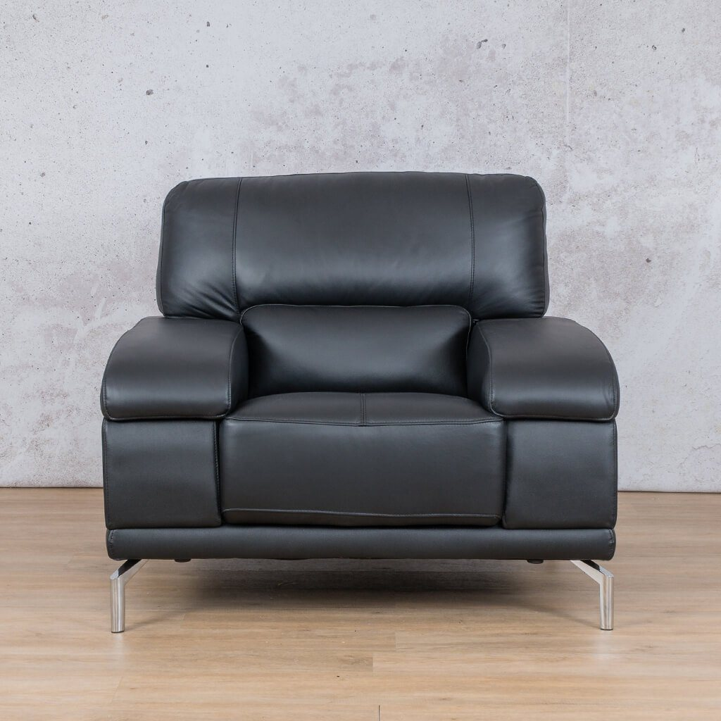 Adaline Leather Couch | 1 Seater Couch | Couches for Sale | Black-6 | Leather Gallery Couches