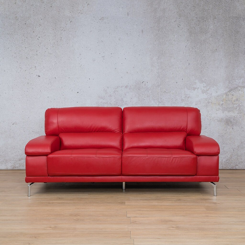 Adaline Leather Couch | 3 Seater Couch | Couches for Sale | Red-6 | Leather Gallery Couches