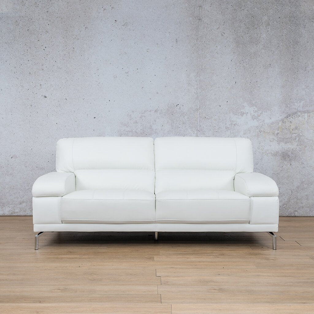 Adaline White 3 Seater | Leather Gallery