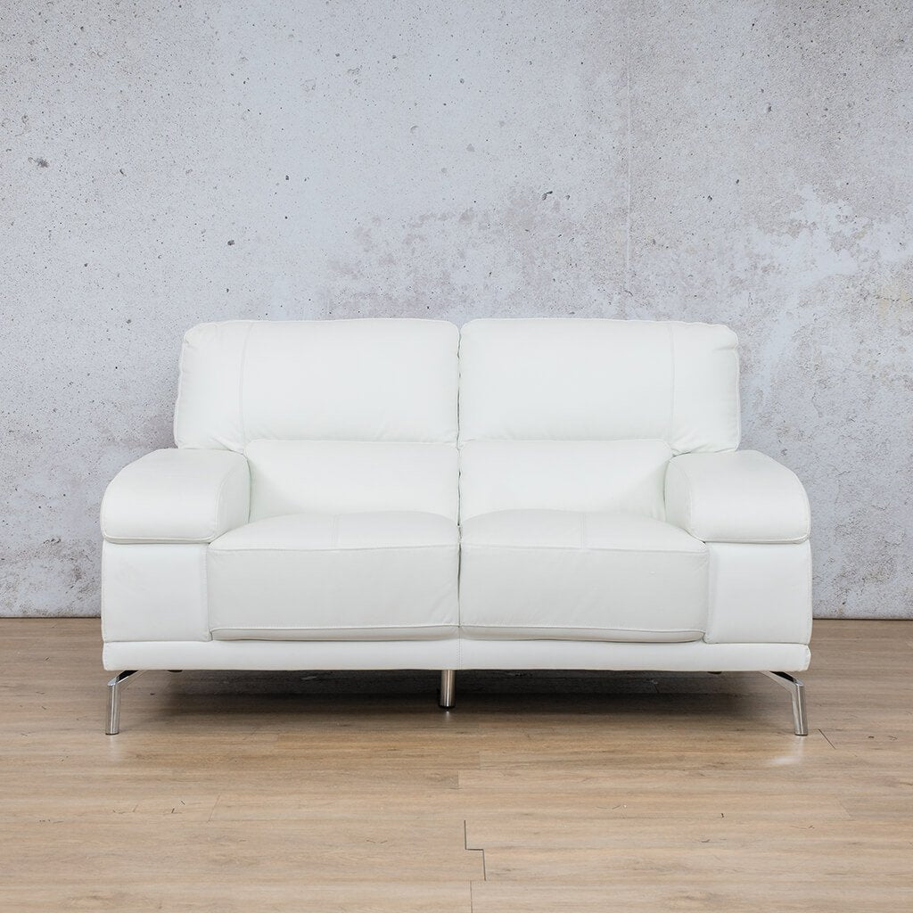 Adaline White 2 Seater | Leather Gallery