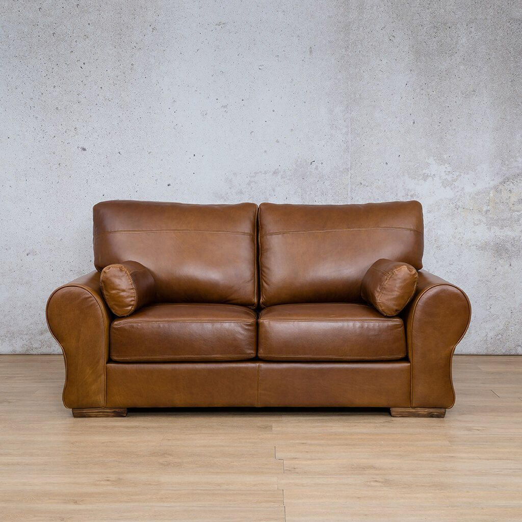 Carolina Leather Couch | 2 Seater | Royal Walnut | Leather Gallery