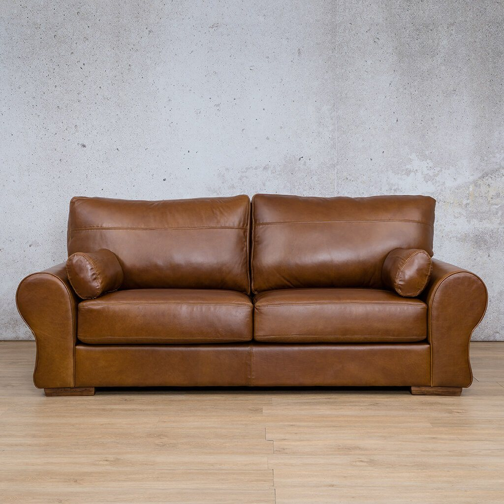 Carolina Leather Couch | 3 Seater | Royal Walnut | Leather Gallery