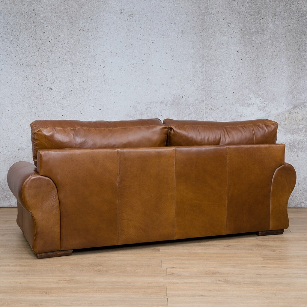 Carolina Leather Couch | 3 Seater Couch | Couches for Sale | Royal Walnut-C | Back Angled | Leather Gallery Couches