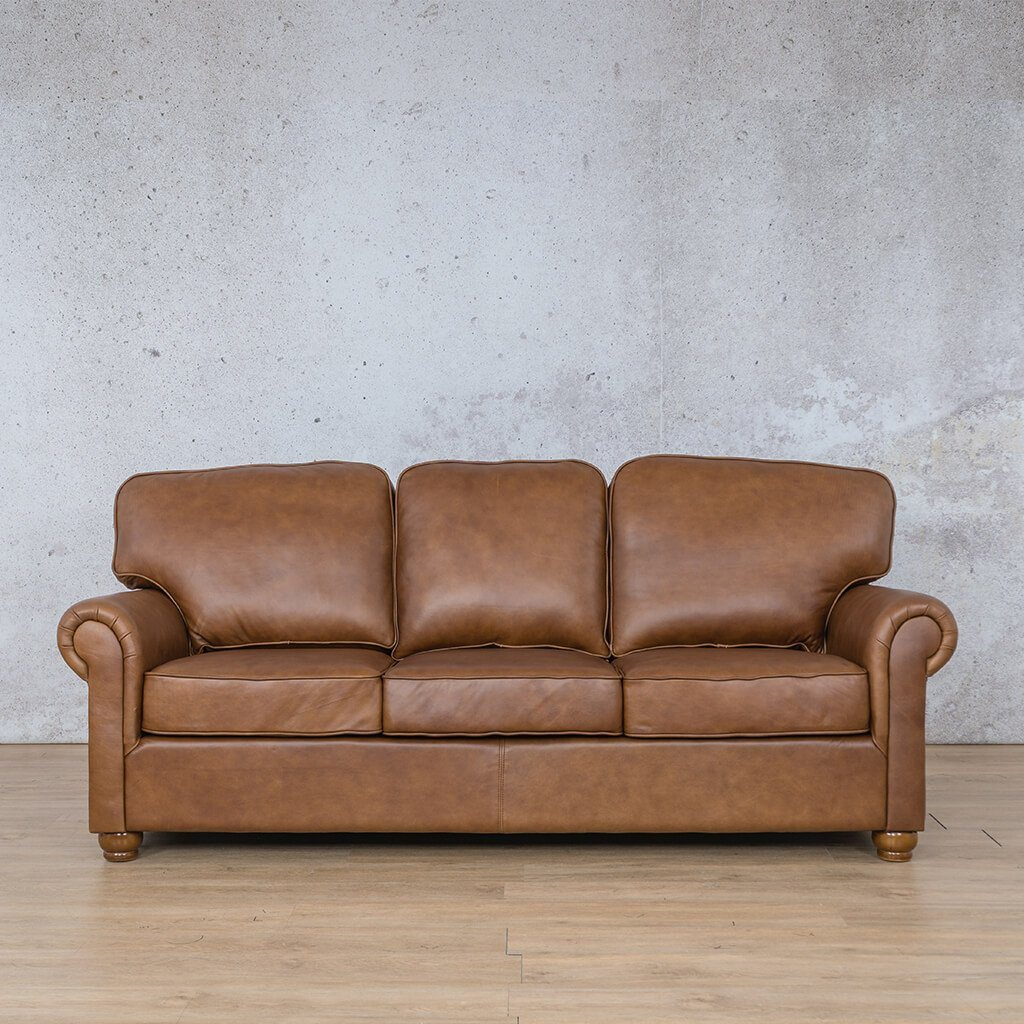 Salisbury Leather Couch | 3 seater couch | Czar Pecan-S | Couches for Sale | Leather Gallery Couches