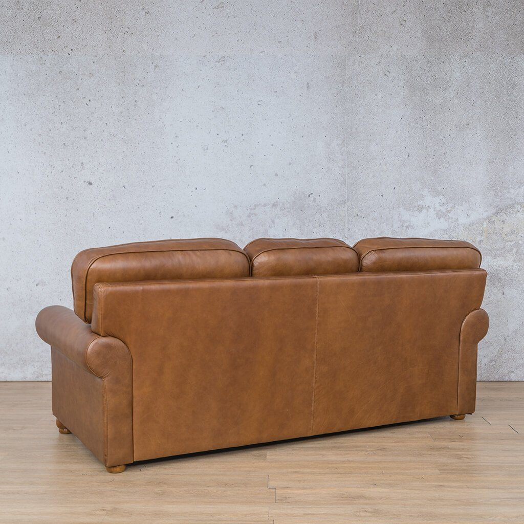 Salisbury Leather Couch | 3 seater couch | Czar Pecan-S | Back Angled | Couches for Sale | Leather Gallery Couches