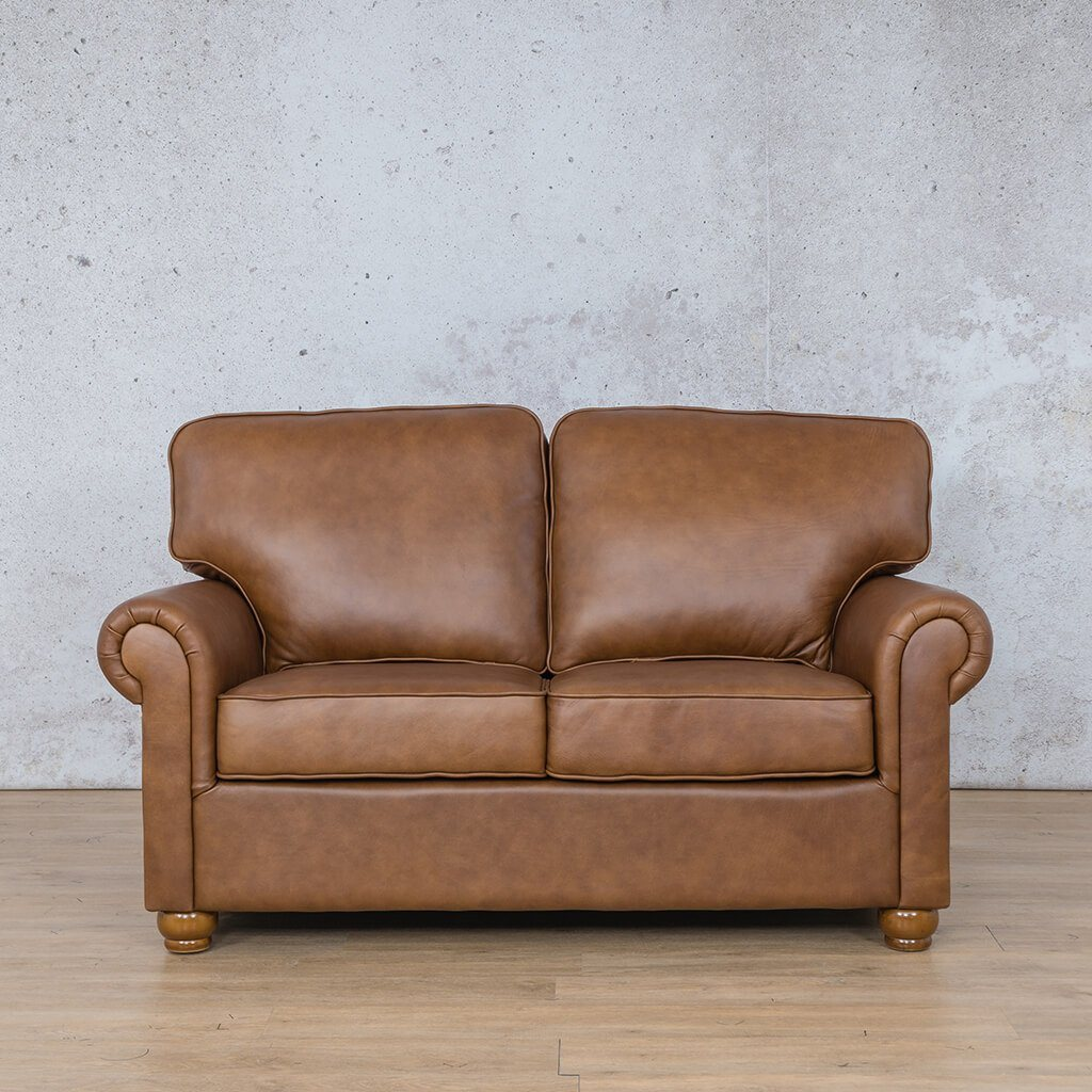 Salisbury Leather Couch | 2 seater couch | Czar Pecan-S | Couches for Sale | Leather Gallery Couches
