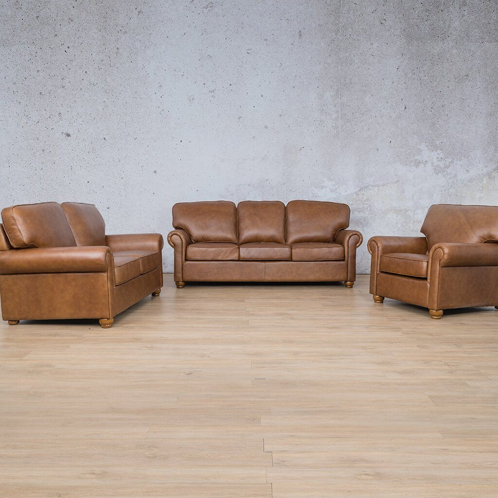 Salisbury Leather Couches | 3-2-1 seater couches | Czar Pecan-S | Couches for Sale | Leather Gallery Couches