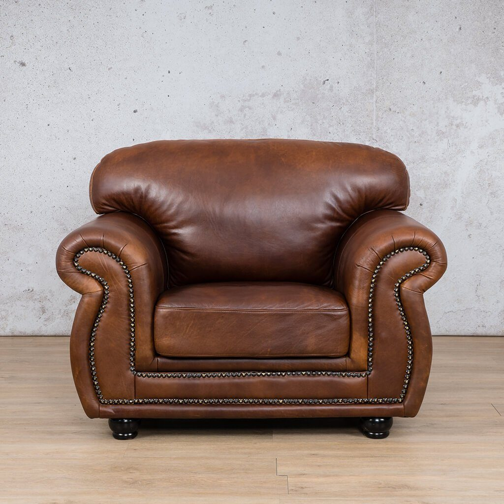 Isilo Leather Couch | 1 Seater Couch | Couches for Sale | Royal Walnut-A | Leather Gallery Couches