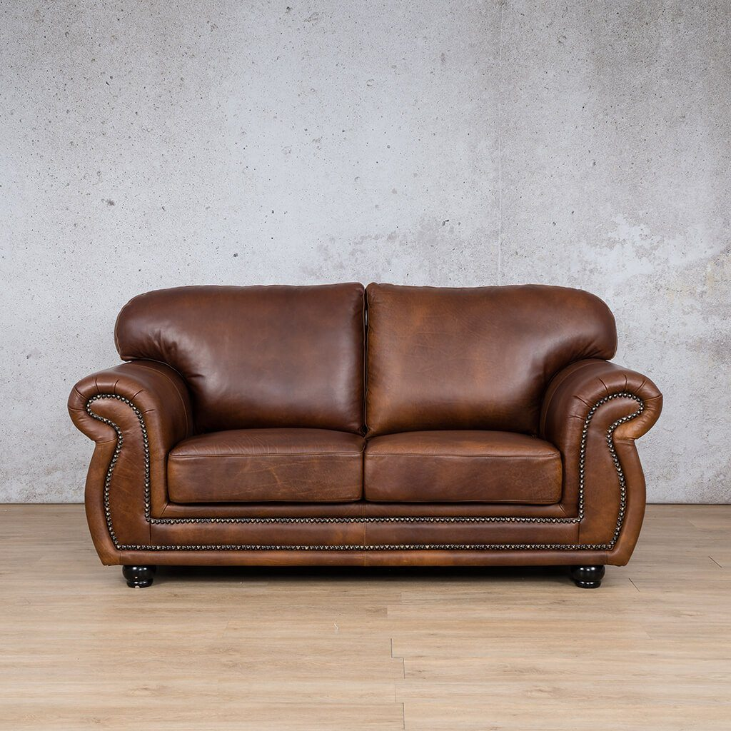 Isilo Leather Couch | 2 Seater Couch | Couches for Sale | Royal Walnut-A | Leather Gallery Couches