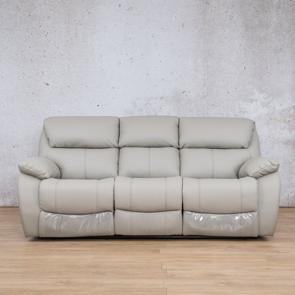 Cairo Leather Recliner Couch | 3 Seater Home Theatre | Grey-K | Couches For Sale | Leather Gallery Couches
