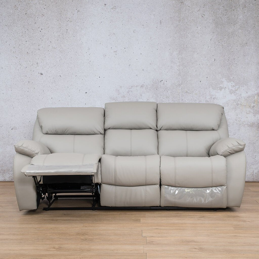Cairo Leather Recliner Couch | 3 Seater Couch | Grey-K | Open | Couches For Sale | Leather Gallery Couches