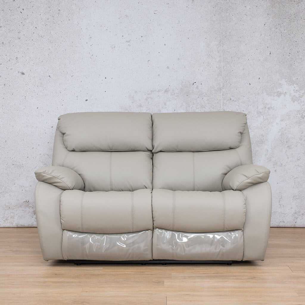 Cairo Leather Recliner Couch | 2 Seater Couch | Grey-K | Couches For Sale | Leather Gallery Couches