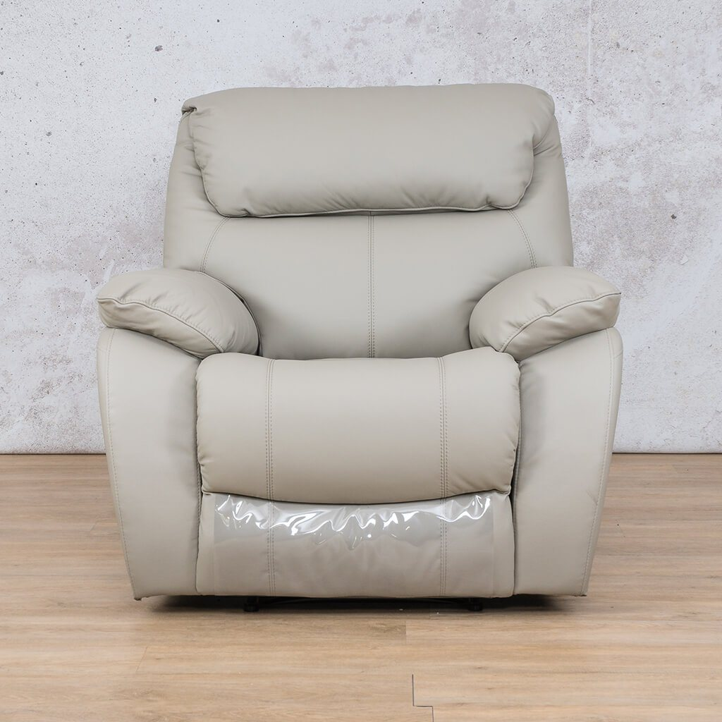 Cairo Leather Recliner Couch | 1 Seater Couch | Grey-K | Couches For Sale | Leather Gallery Couches