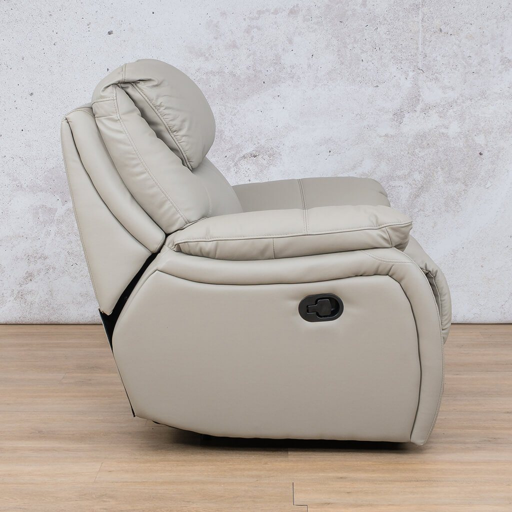 Cairo Leather Recliner Couch | 1 Seater Couch | Grey-K | Side | Couches For Sale | Leather Gallery Couches