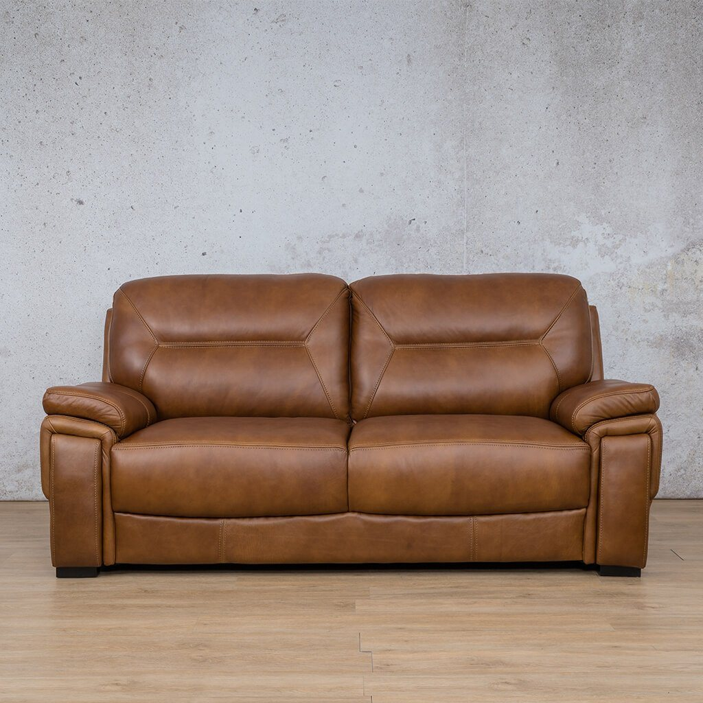 San Lorenze Leather Couch | 3 Seater Couch | Couches for Sale | Czar Pecan-S | Leather Gallery Couches