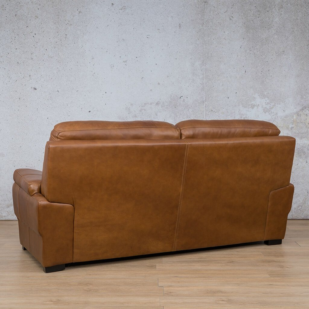 San Lorenze Leather Couch | 3 Seater Couch | Couches for Sale | Czar Pecan-S | Back Angled | Leather Gallery Couches