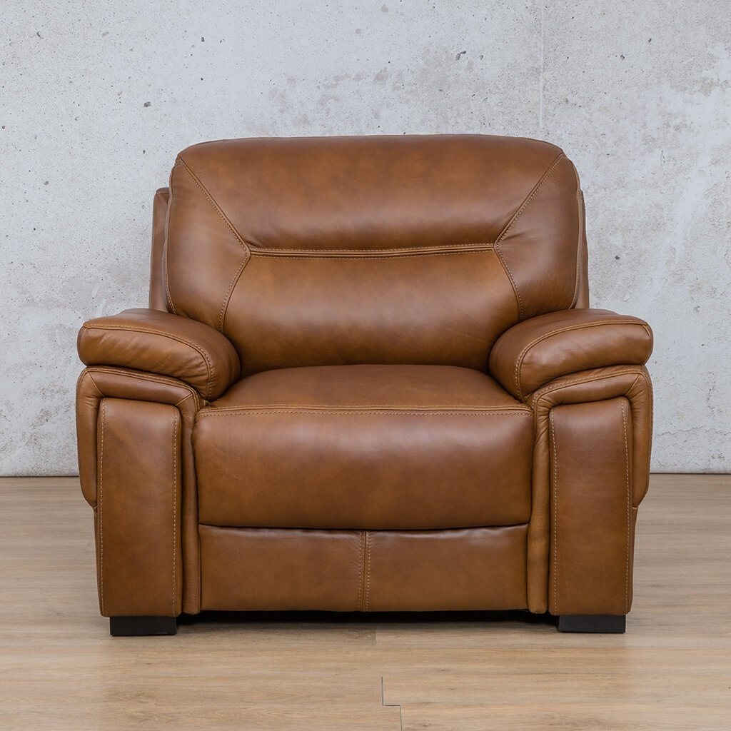 San Lorenze Leather Couch | 1 Seater Couch | Couches for Sale | Czar Pecan-S | Leather Gallery Couches