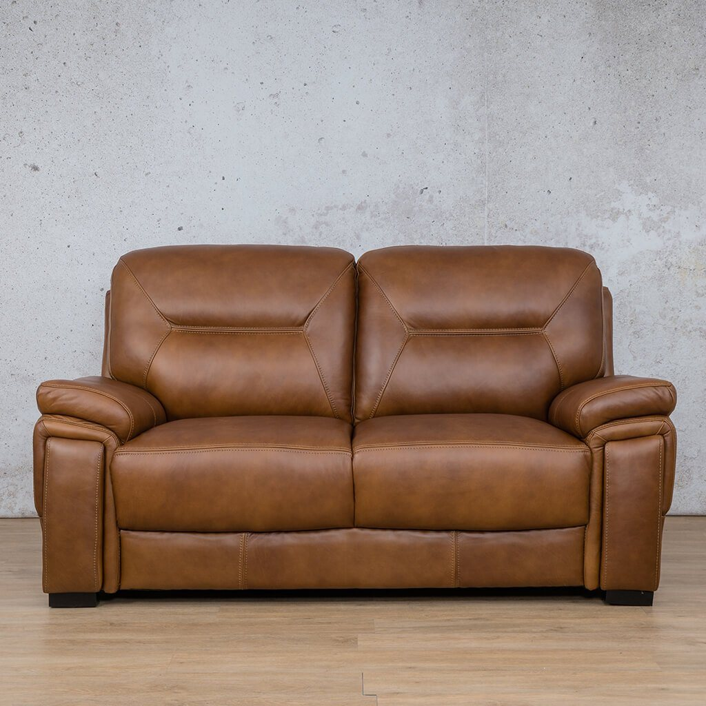 San Lorenze Leather Couch | 2 Seater Couch | Couches for Sale | Czar Pecan-S | Leather Gallery Couches
