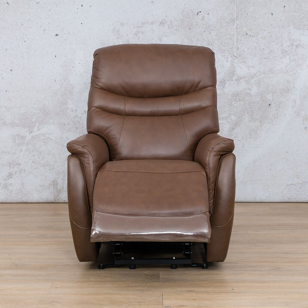 Seattle Leather Recliner Couch | 1 Seater Couch | Saddle-S | Open | Couches For Sale | Leather Gallery Couches