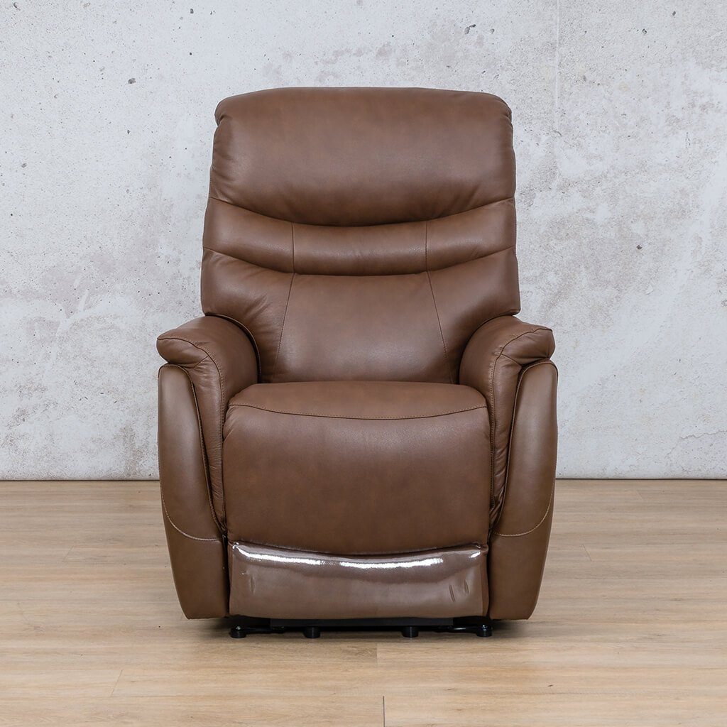 Seattle Leather Recliner Couch | 1 Seater Couch | Saddle-S | Couches For Sale | Leather Gallery Couches