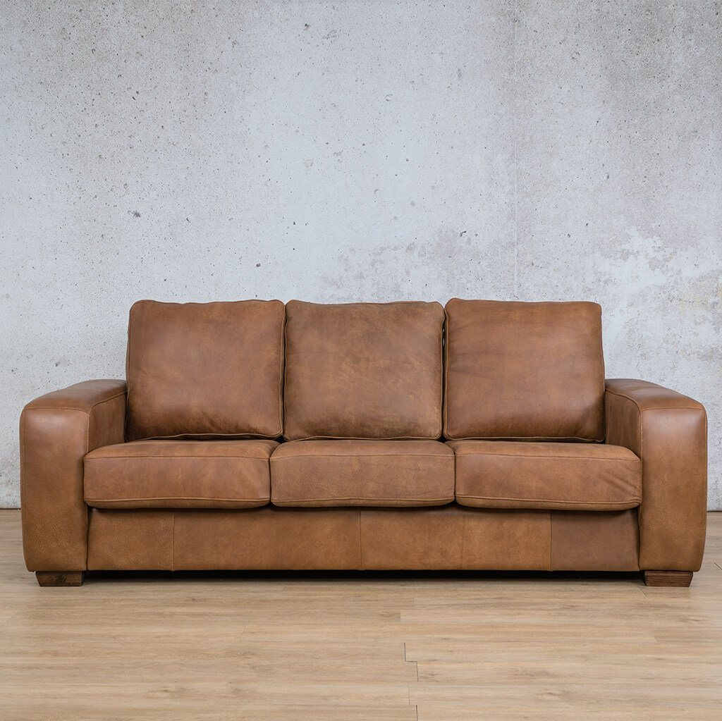 Stanford 3 Seater Leather Sofa - Warehouse