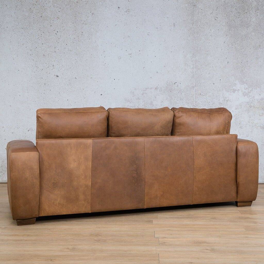 Stanford Leather Couch | 3 Seater Couch | Couches for Sale | Fudge-S | Back Angled | Leather Gallery Couches
