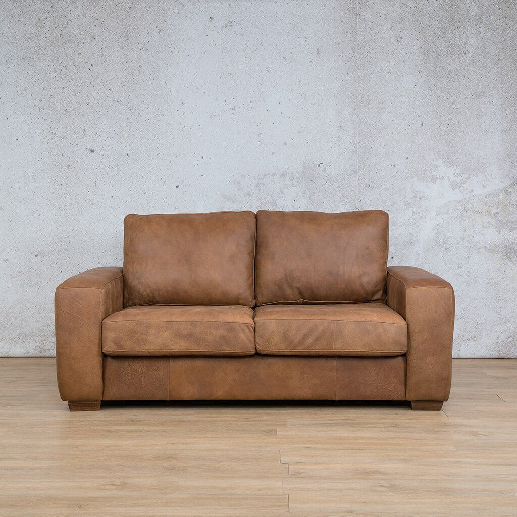 Stanford Leather Couch | 2 seater couch | Fudge-S | Couches for Sale | Leather Gallery Couches